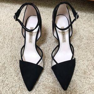 ZARA black size 40 black heels with ankle strap